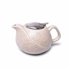 9389 FISSMAN Чайник заварочный 750мл с ситечком, цвет Белый песочный (керамика)