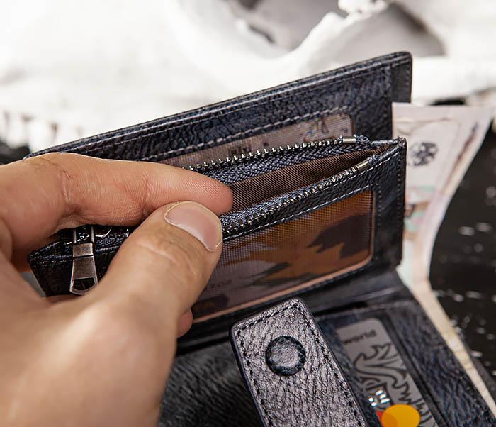 WL330-3 Портмоне из кожи с монетницей на застежке фото 11