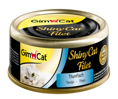 Gimcat Консервы Shiny Cat Filet тунец для кошек
