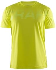 Мужская беговая футболка Craft Prime Run Logo 1904341-1605 желтая