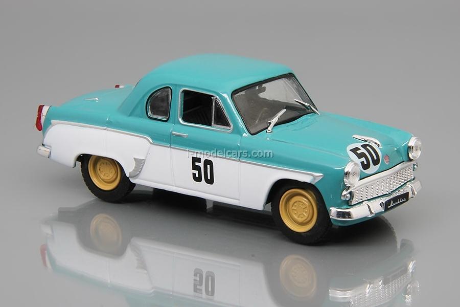 Moskvich-407 Coupe 1962 turquoise-white 1:43 DeAgostini Auto Legends USSR #231