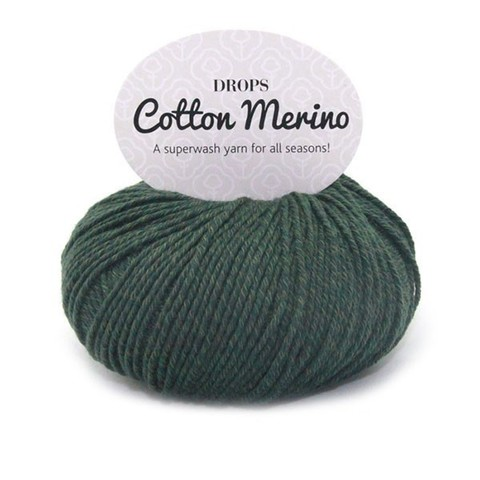 Пряжа Drops Cotton Merino 22 темно-зеленый