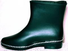 Современные резиновые сапоги для города женские Hello Rain Story 1019 Black.