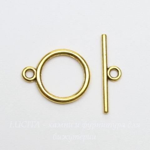 Замок - тоггл из 2х частей (цвет - античное золото) 18х14 мм , 21х5 мм