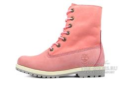 Женские Ботинки Timberland Teddy Fleece Pink (МЕХ)