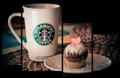 """Модульная картина """" Coffee cake """""""