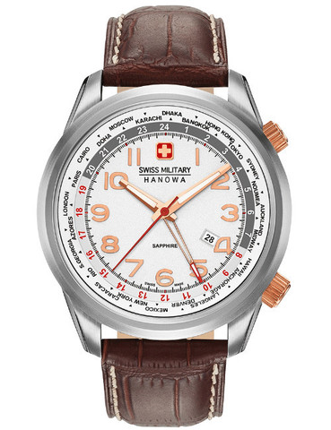 Часы мужские Swiss Military Hanowa 06-4293.04.001 Worldtimer