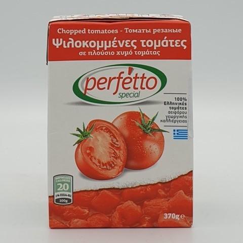 Томаты резаные очищенные в собственном соку PERFETTO SPECIAL, 370 гр