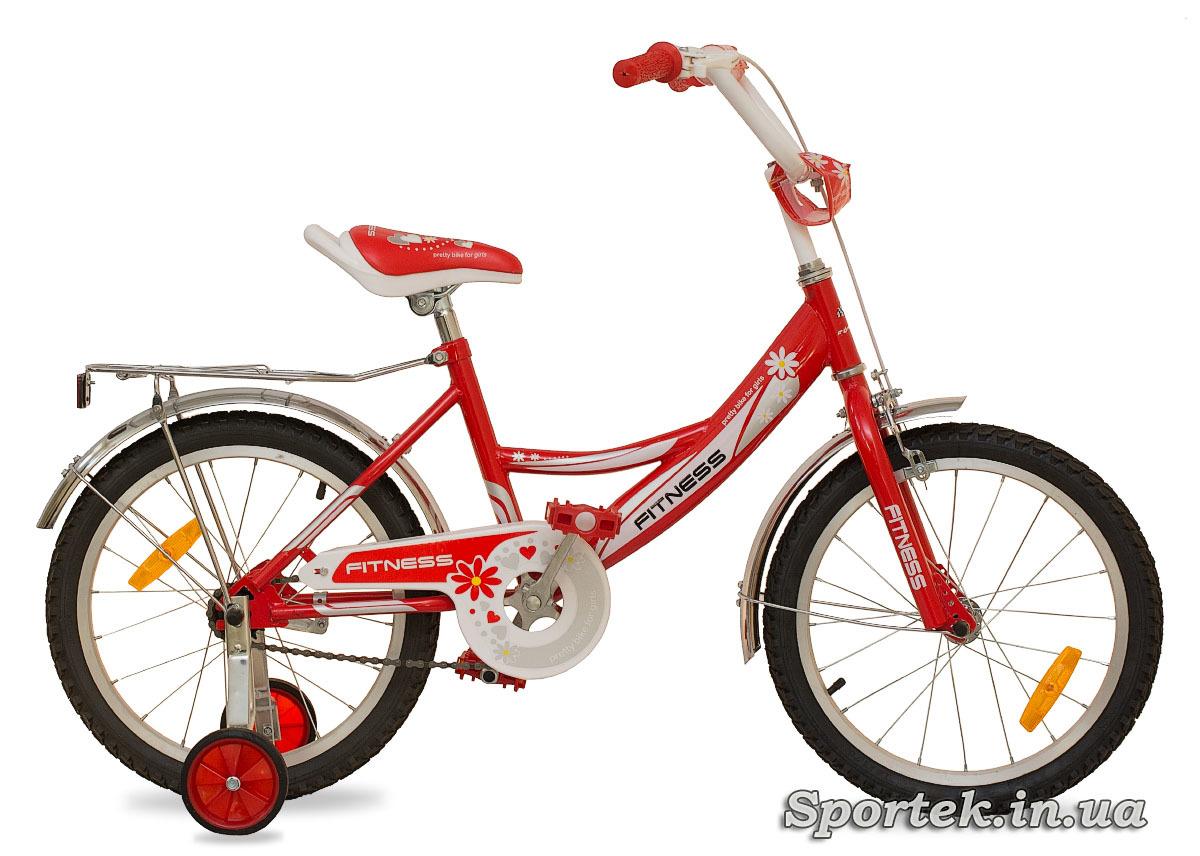 Красно-белый велосипед для девочек Formula Fitness 2015 с колесами 20 дюймов