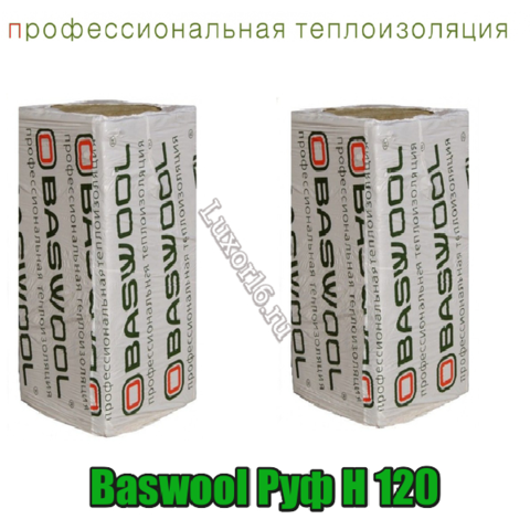 Baswool Руф Н 120 размеры 1200*600мм толщина 40-150мм