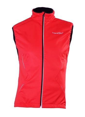 Nordski Premium Детский лыжный жилет SoftShell красный