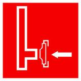 F08 знак пожарной безопасности «Пожарный сухотрубный стояк»