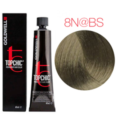 Goldwell Topchic 8N@BS (светлый блонд с бежево-серебристым сиянием(бежевая патина) - Cтойкая крем краска