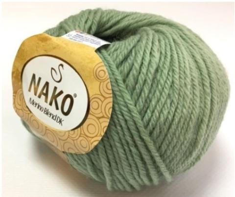 Пряжа Nako Merino Blend DK 1615 светлая лазурь