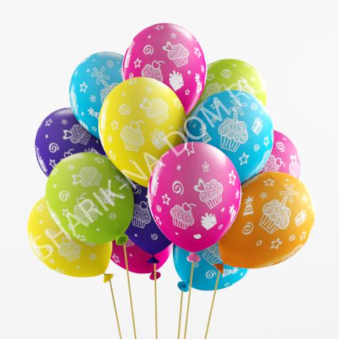 """Детям Воздушные шары """"Кексы и подарки"""" Шары_Кексы_и_подарки.jpg"""