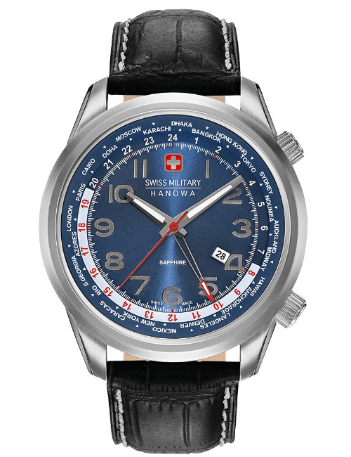 Часы мужские Swiss Military Hanowa 06-4293.04.003 Worldtimer