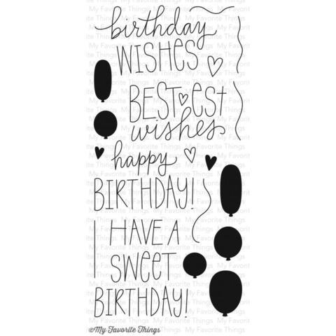 "Силиконовые штампы ""Birthday Wishes & Balloons"""