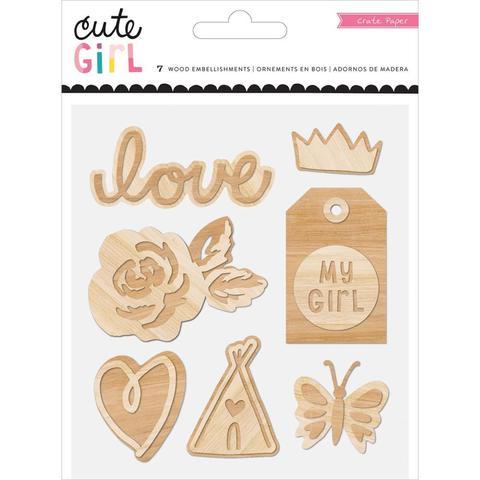 Деревянный чипборд  Cute Girl by Crate Paper