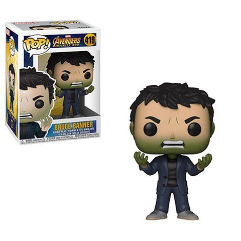 Фигурка Funko POP! Bobble: Marvel: Avengers Infinity War S2: Banner w/ Hulk Head 35776