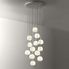 Fabbian Lumi - Mochi Hanging Round Lamp - 30 Lights