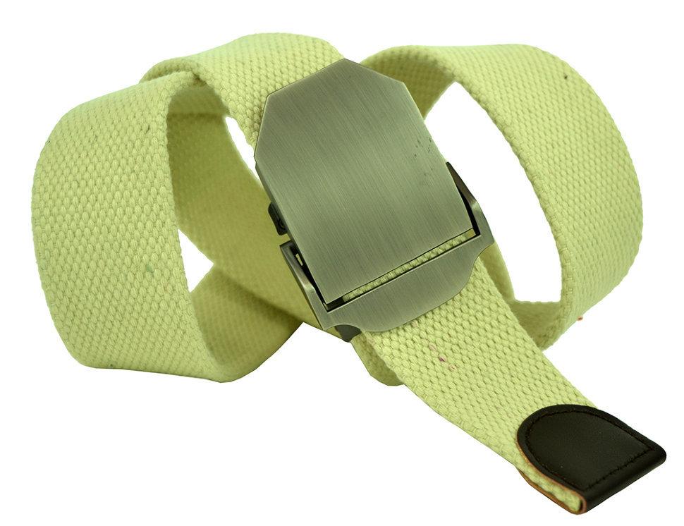 Ремень текстильный мужской бежевый стропа 4 см 40Stropa-085