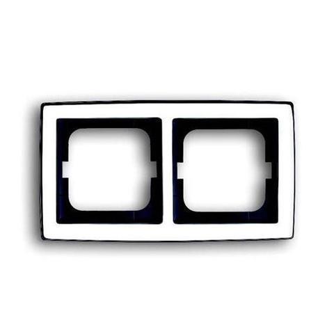 Рамка на 2 поста. Цвет Хром глянцевый. ABB(АББ). Solo(Соло). 1754-0-4327