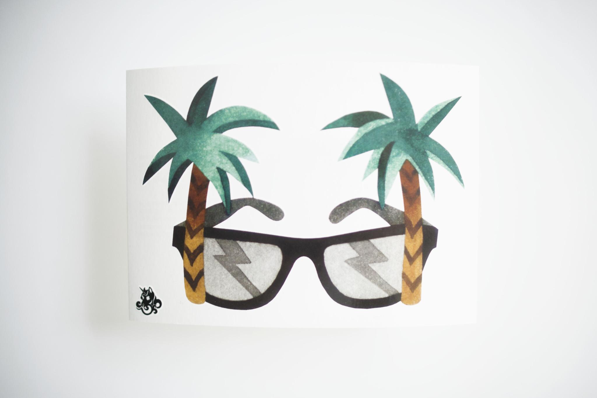 Переводная татуировка Palm Sunglasses