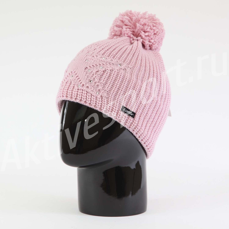 Женские шапки Шапка с помпоном Eisbar Chantal Pompon Crystal 777 IMG_0961.jpg