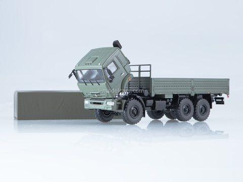 KAMAZ-43118 flatbed with awning khaki 1:43 Start Scale Models (SSM)