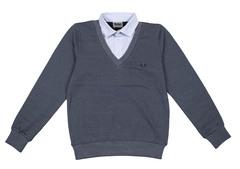 1586 джемпер с рубашкой-обманкой 3