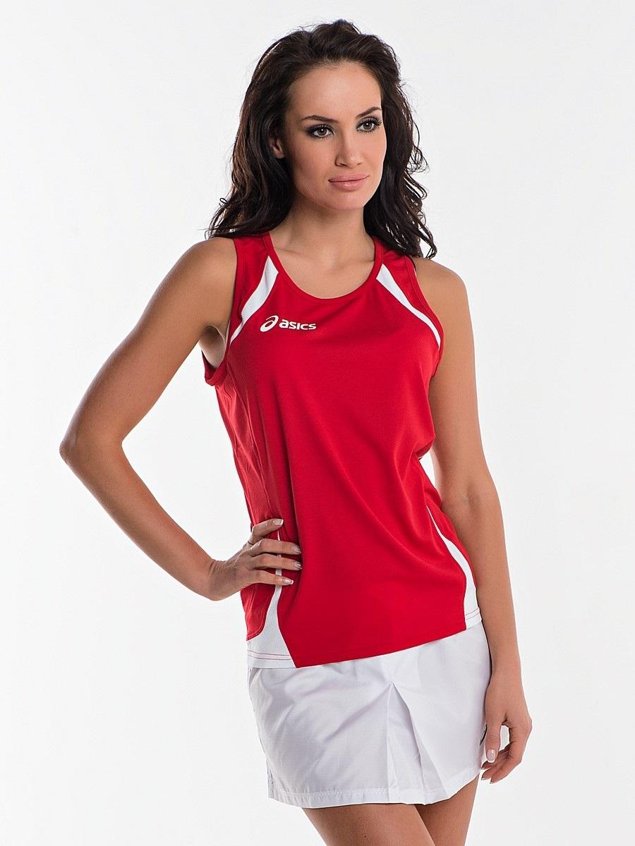 Женская легкоатлетическая майка асикс Singlet Usain red (T237Z6 2601)