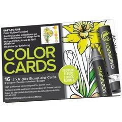 Раскраска-склейка Chameleon Color Cards Flowers