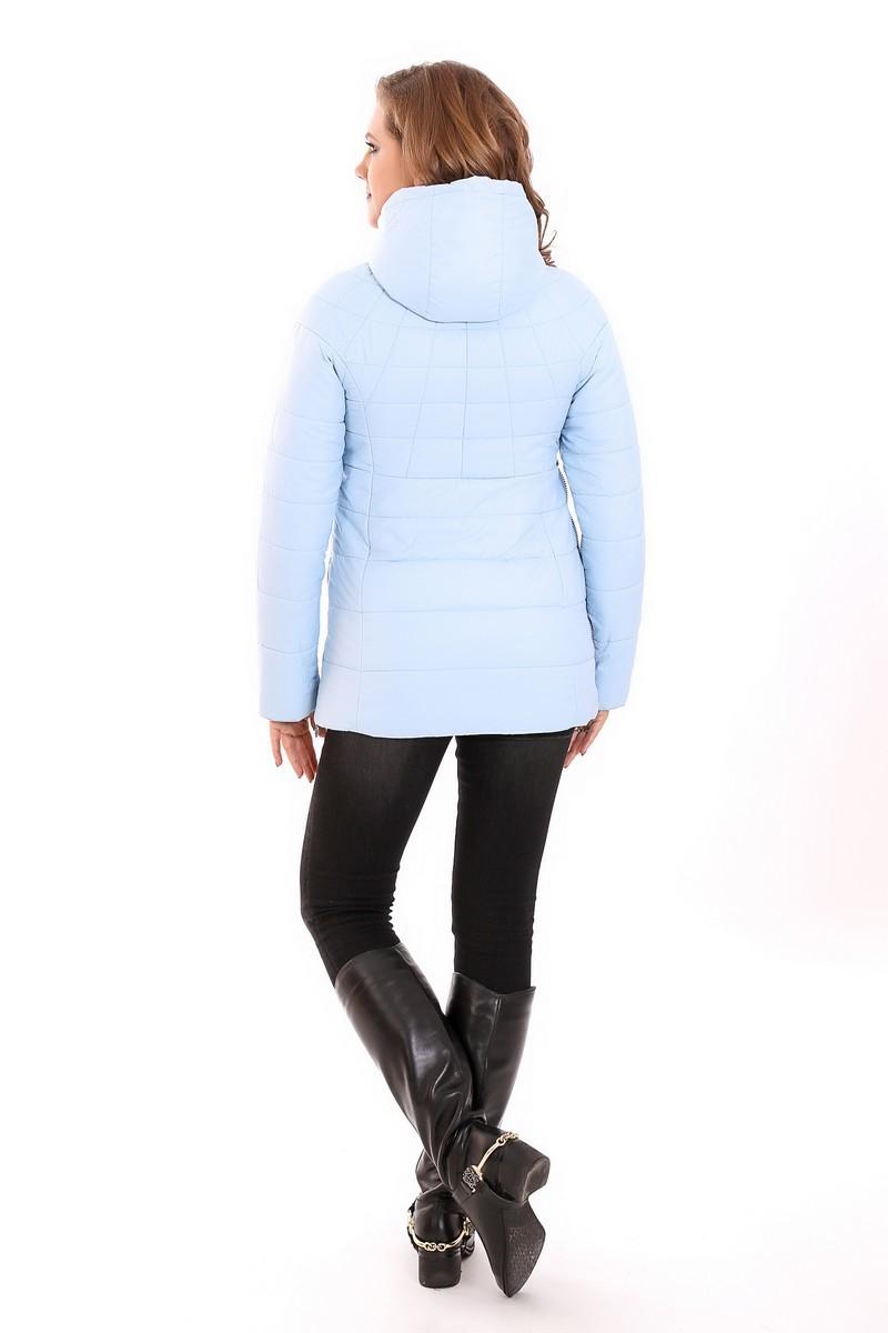 Куртка 07569 голубой/серый