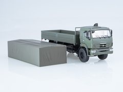 KAMAZ-43118 flatbed with awning khaki 1:43 Start Scale Models (SSM)