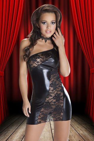 Эффектное платье Sila из кружев и ткани с wet-эффектом