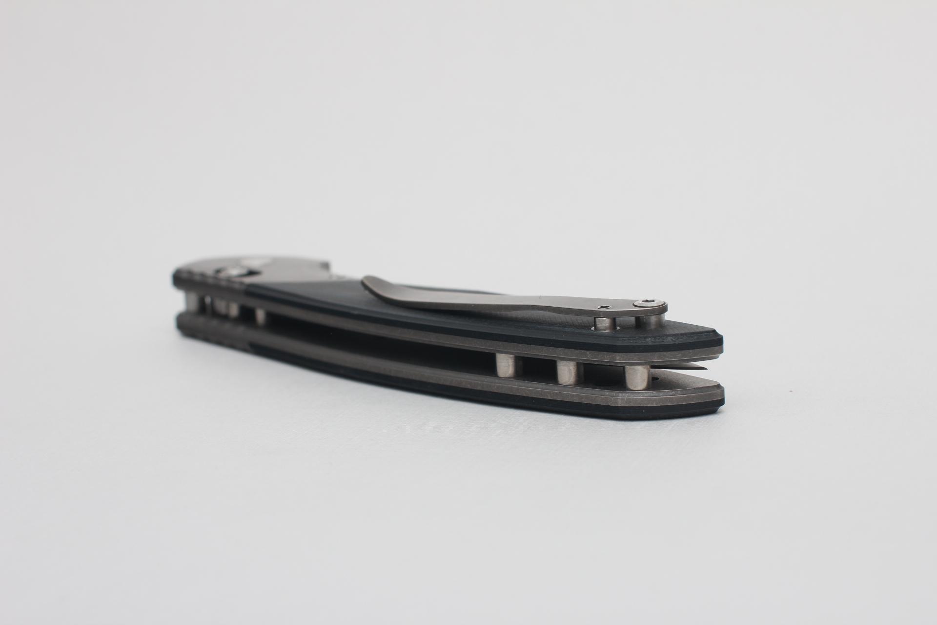 Нож Широгоров 110b S30V долы G10 3D черно-синяя