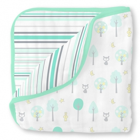 Одеяло Luxe Muslin Green Woodland