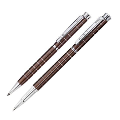 Набор подарочный Pierre Cardin Pen&Pen - Brown, ручка шариковая + ручка роллер