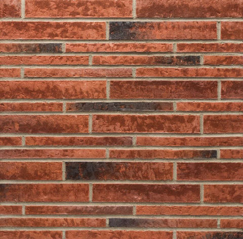 Stroeher - 353 eisenrost, Zeitlos, состаренная поверхность, ручная формовка, 400x35x14 - Клинкерная плитка для фасада и внутренней отделки