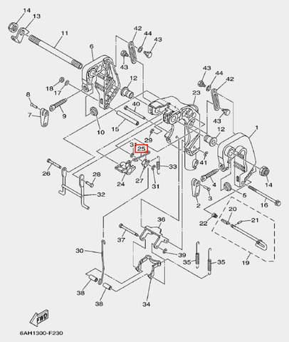 Стопор пружины для лодочного мотора F20 Sea-PRO (19-27)