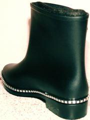 Современные резиновые сапоги женские Hello Rain Story 1019 Black.