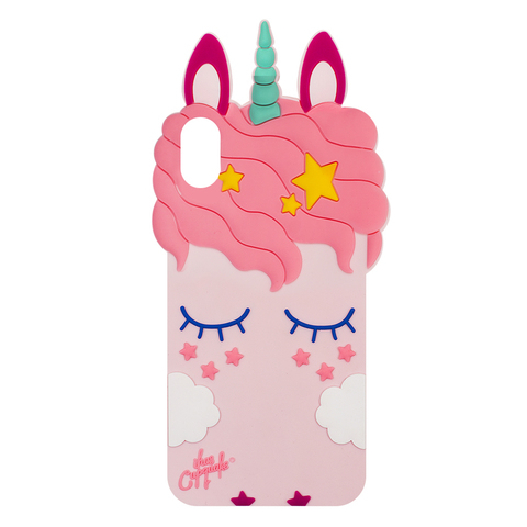 Чехол для IPhone XS Max Unicorn Pink