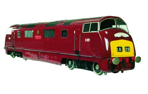 Garden Rail Тепловоз Класса 42 Warship на колею 12,7 см, электрический