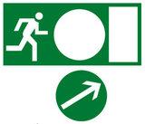 Знак направление движения к эвакуационному выходу направо