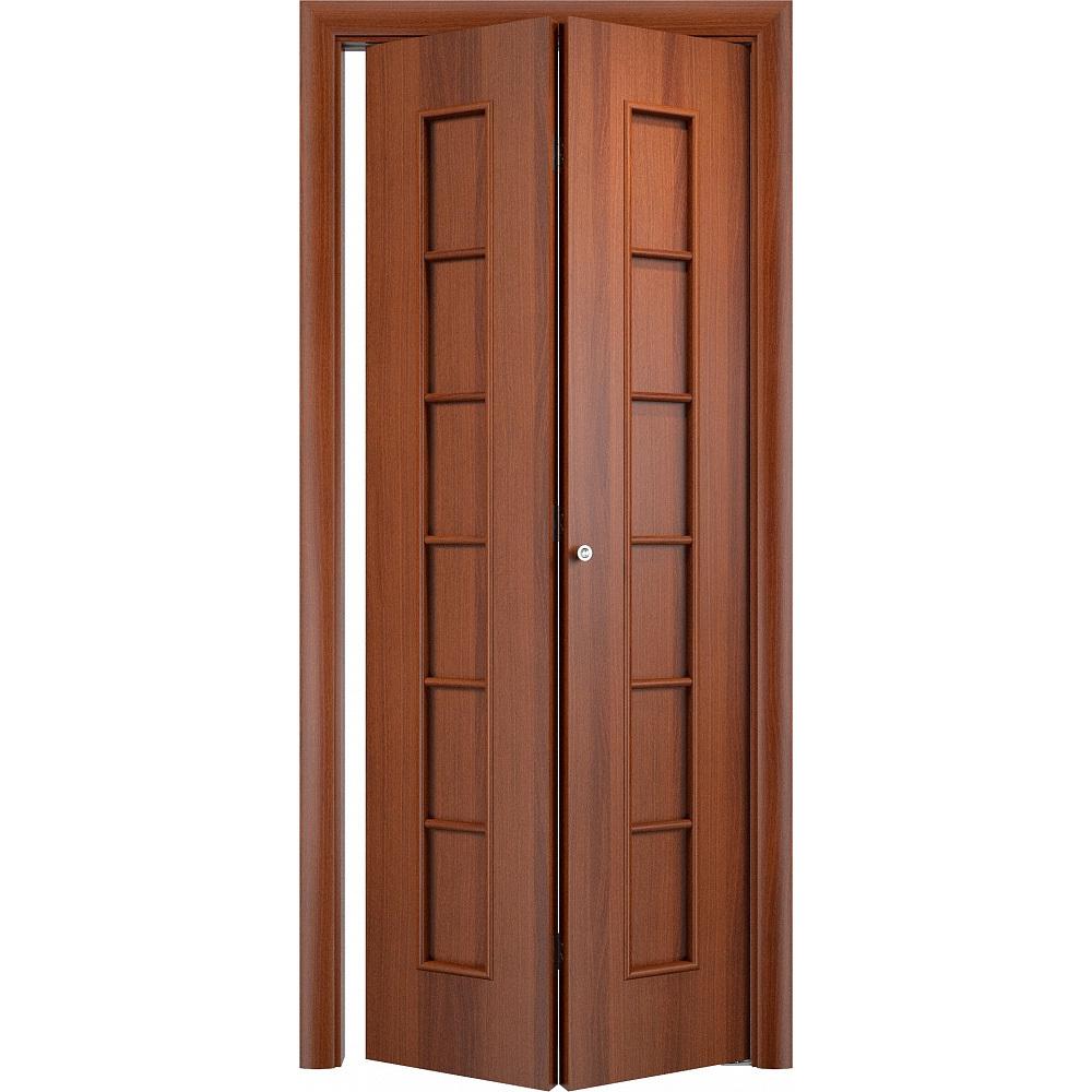 Складные двери Складная дверь Лесенка итальянский орех без стекла skladnye-s_12g-italyanskiy-orekh-dvertsov.jpg