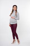 Водолазка для беременных и кормящих 09296 серый