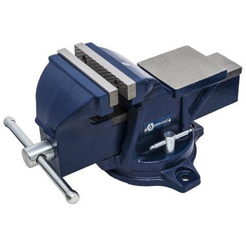 Тиски слесарные поворотные КОБАЛЬТ ширина губок 125 мм, захват 130 мм, 13 кг, наковальня,  (245-985)