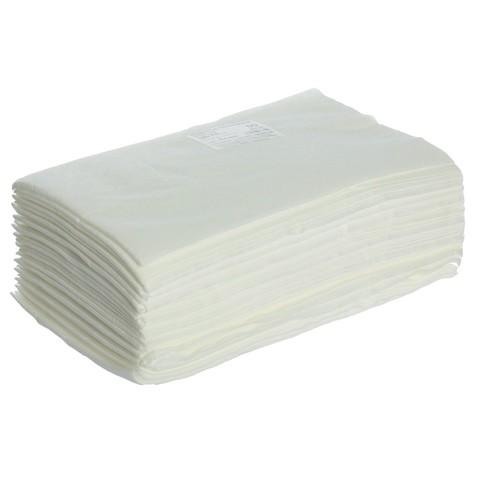 Полотенце в сложении, 35х70, спанлейс, белый, ( 50шт)