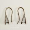 Швензы - крючки 23х8 мм с держателем для подвески (цвет - античная  бронза)