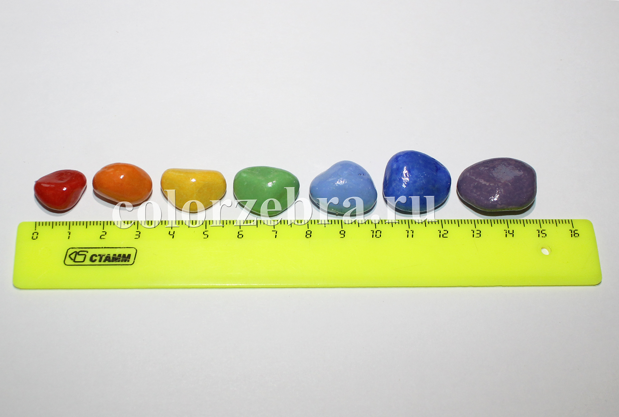 Декоративная цветная галька, камни цветные для детей, поделок и творчества. Купить